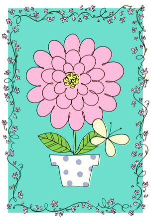 Simple Bloom Birthday Card