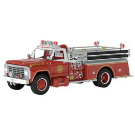 Fire Brigade 1979 Ford F-700 Fire Engine Ornament With Light, , large