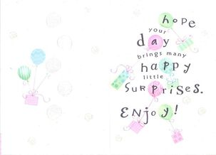 Balloons and Happy Surprises