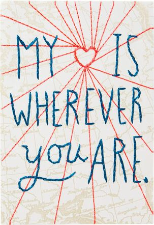 My Heart Is With You Love Card