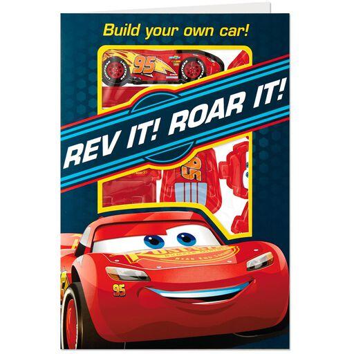 Disney Pixar Cars Rev It Roar Birthday Card With Car Kit