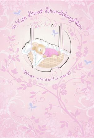 New Baby Great-Granddaughter Congratulations Card