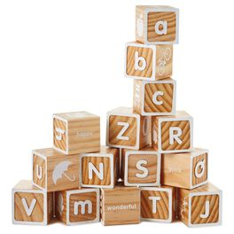 Wood Alphabet Block Set, , large