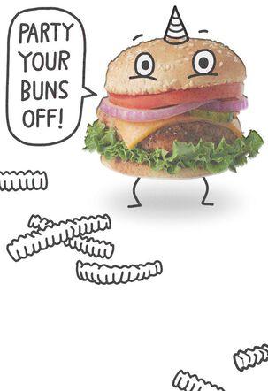Hamburger Buns Funny Birthday Card