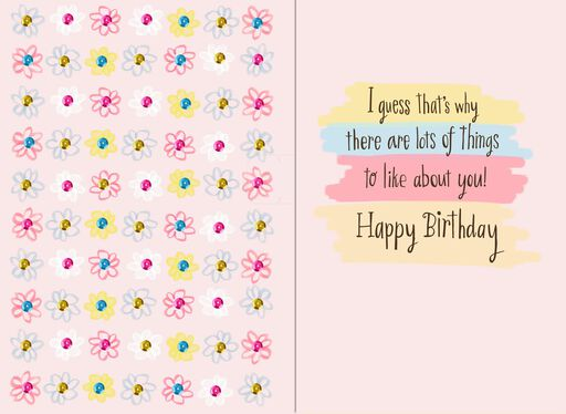 What I Like About You Musical Birthday Card,