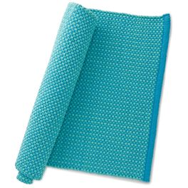 Teal Blue Kitchen Rug, , large