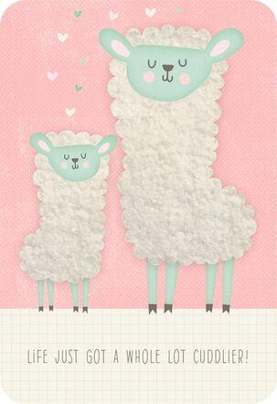 Little Lamb New Baby Girl Card