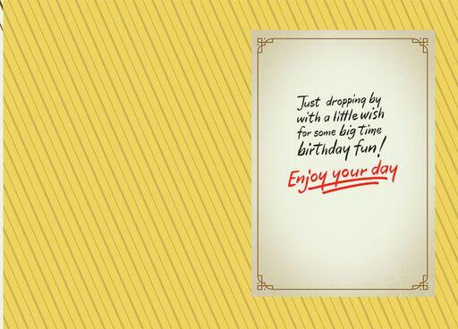 Snoopy Big Time Fun Birthday Card,