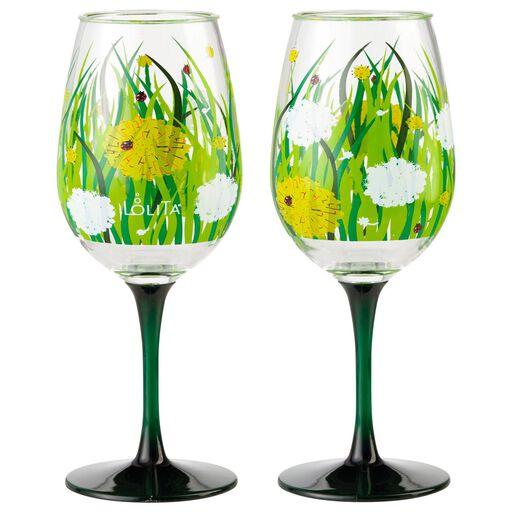 Dandelion Acrylic Wine Gles Set Of 2
