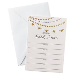 Heart Garland Bridal Shower Invitations, Pack of 10, , large