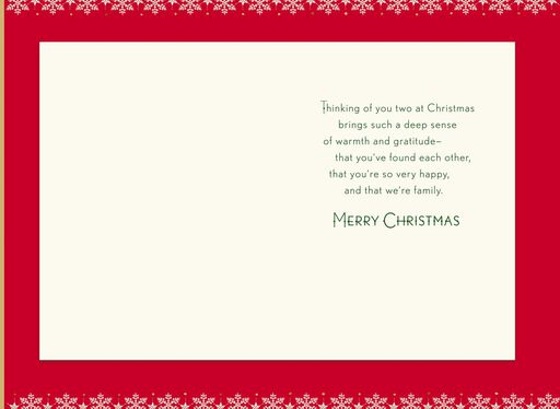 For a Wonderful Mom and the Woman She Loves Christmas Card,