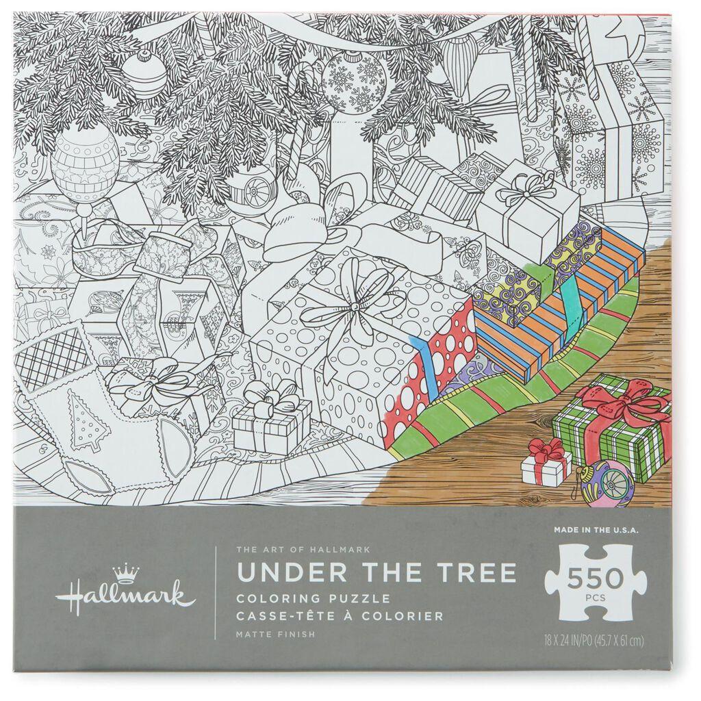 Under the Tree 550-Piece Coloring Puzzle - Puzzles & Games - Hallmark