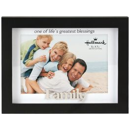 Family Blessings Matted Wood Photo Frame, 5x7, , large