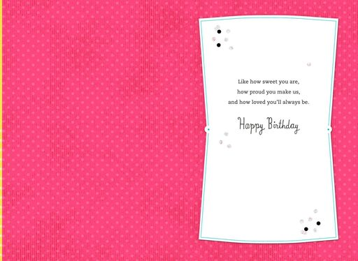 Pretty Cupcake 13th Birthday Card For Granddaughter