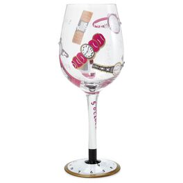 Lolita® 5 O'clock Somewhere Handpainted Wine Glass, 15 oz., , large