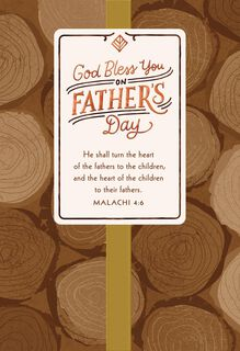 May God Bless You Religious Father's Day Card,