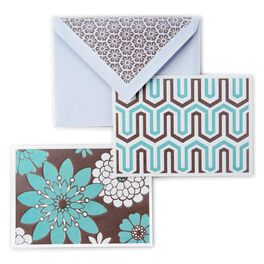 Geometric Floral Note Cards, Pack of 50, , large