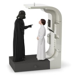 Star Wars™: A New Hope™ Royal or Rebel? Vader and Leia Ornament With Sound, , large