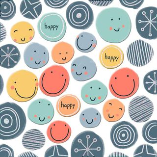 Happy Smiley Faces Birthday Card,