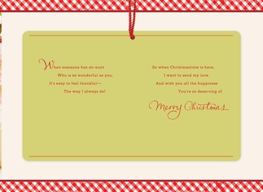 Sending My Love Christmas Card for Aunt,