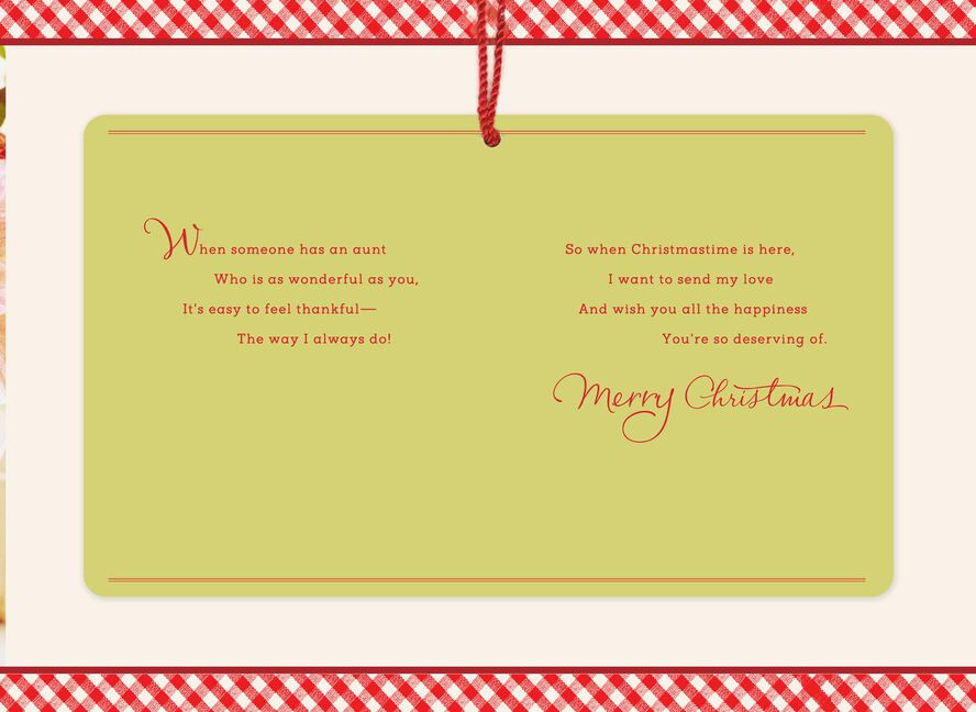 Sending My Love Christmas Card for Aunt - Greeting Cards - Hallmark
