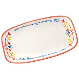 Full Plates Spanish-Language Serving Platter, , large