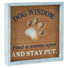 Dog Wisdom Rustic Wood Sign, , large