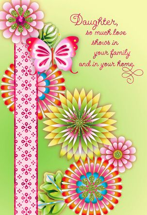 Catalina Estrada Butterfly Floral Mother's Day Card for Daughter