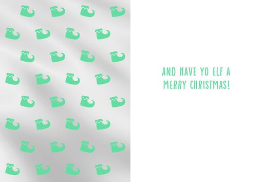 Express Yo Elf Christmas Card,