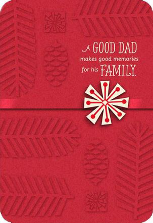 Dad Memories Snowflake Christmas Card