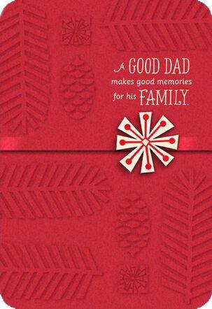 Dad Memories Snowflake Christmas Card