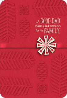 Dad Memories Snowflake Christmas Card,