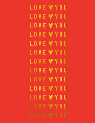 Love You in Gold Valentine's Day Card