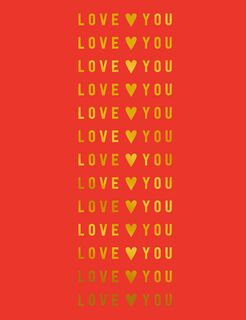 Love You in Gold Valentine's Day Card,