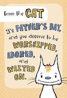 Being Me Father's Day Card From the Cat,