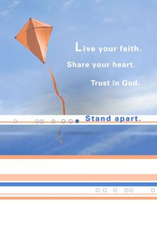 Live Your Faith Confirmation Card,