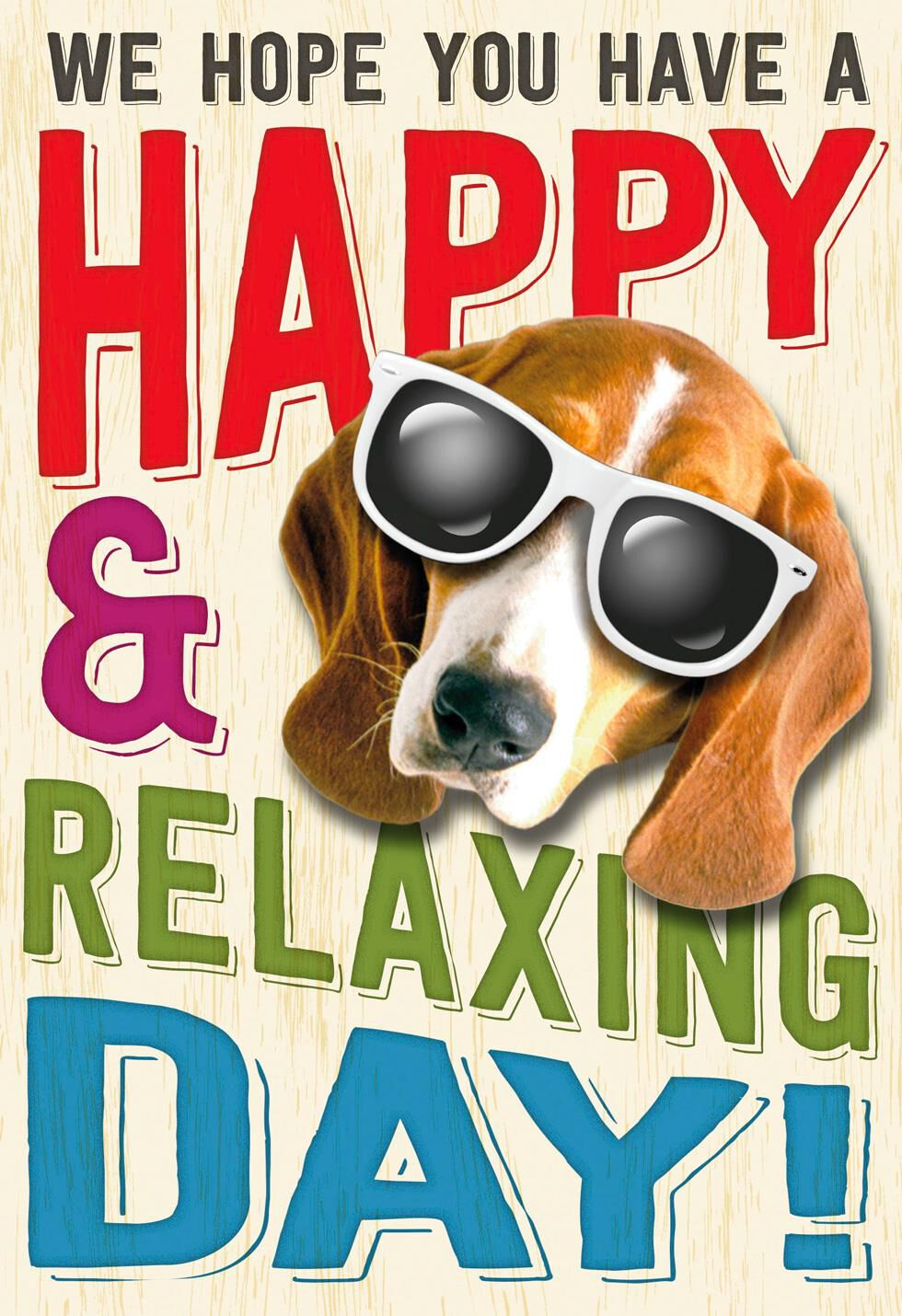 relaxing day funny admin professionals day card from us