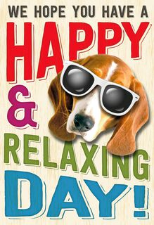 Relaxing Day Funny Admin Professionals Day Card From Us,