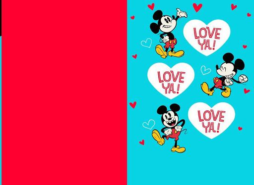 Vintage Mickey Mouse and Pluto Valentine's Day Card for Son,