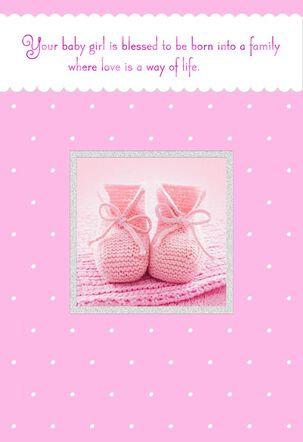 Happy Start in Life New Baby Girl Card