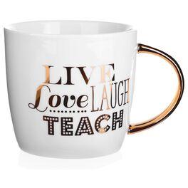 """""""Live Love Laugh Teach"""" Mug, 14 oz., , large"""