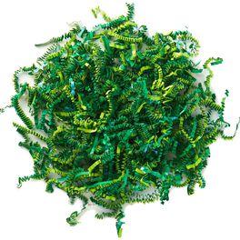 Iridescent and Green Shredded Paper Bag Filler, 1.5 oz., , large