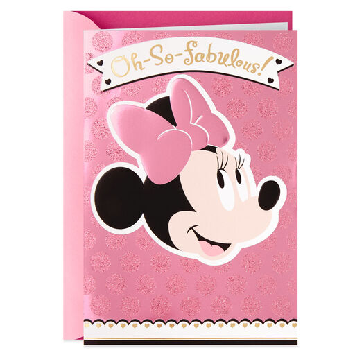 Disney Minnie Mouse Oh So Fabulous Mothers Day Card