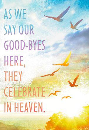 Heaven Celebrates Sympathy Card