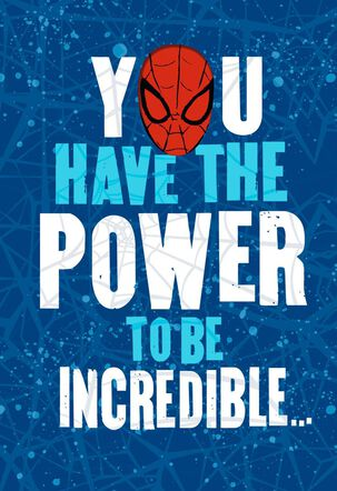Power to Be Incredible Spider-Man Birthday Card
