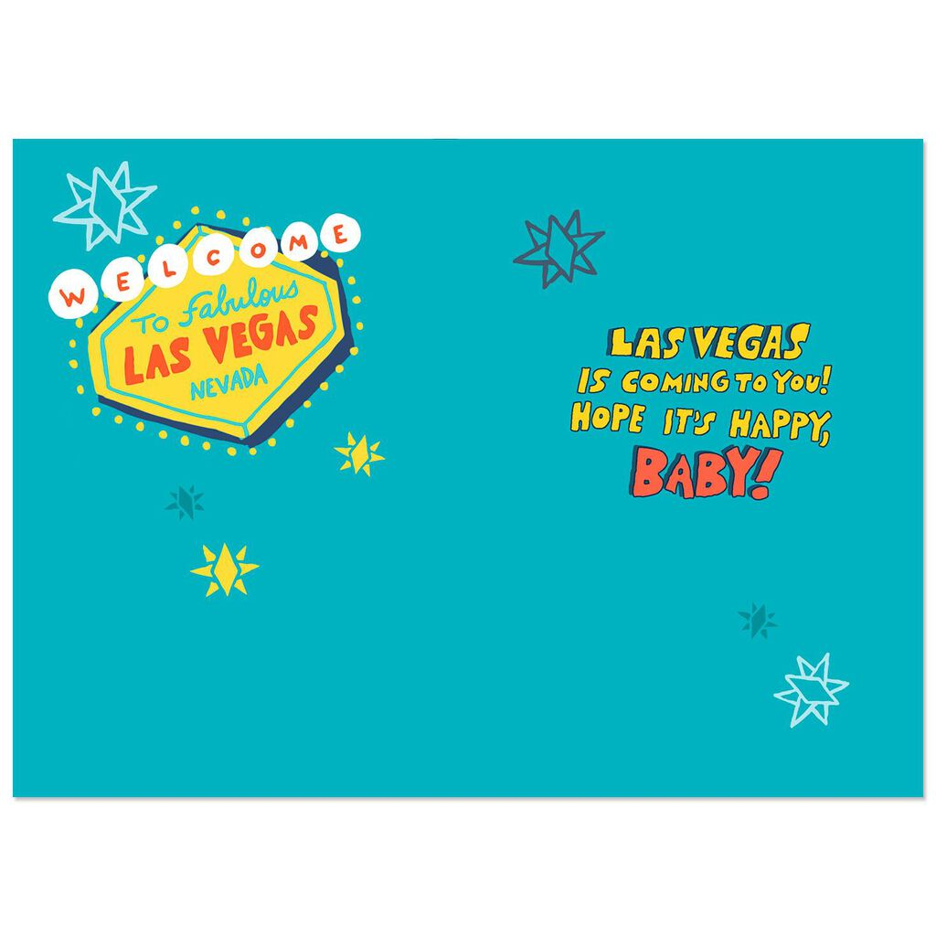 Las Vegas Style Funny Musical Birthday Card