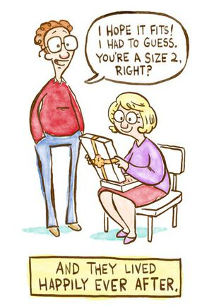 Size 2 Funny Anniversary Card