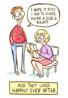 Size 2 Funny Anniversary Card,