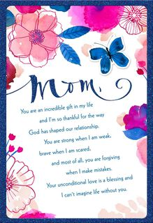 Thanks for Always Being There Religious Mother's Day Card,