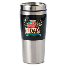 Disney/Pixar Cars Lightning McQueen and Mater Metal Coffee Travel Mug, 16 oz., , large